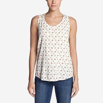 Women's Thistle Tank Top - Printed in White