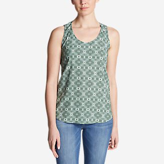 Women's Thistle Tank Top - Printed in Green