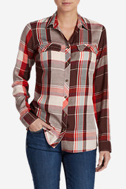 Women's Tranquil Long-Sleeve Shirt - Pattern in Brown