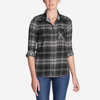 Women's Catalyst Flannel Shirt in Black