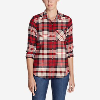 Women's Catalyst Flannel Shirt in Red