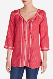 Women's Vista Point Dobby Tunic in Red