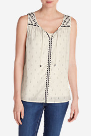 Women's Tahoe Embroidered Tank Top in White