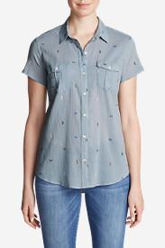 Women's Packable Short-Sleeve Shirt - Print in Blue