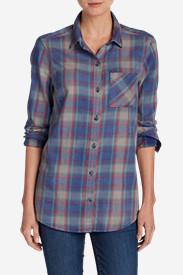 Women's Stine's Favorite Flannel Boyfriend Shirt - Vintage Wash in Blue