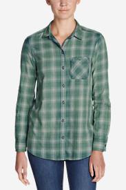 Women's Stine's Favorite Flannel Boyfriend Shirt - Vintage Wash in Green
