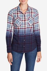 Women's Stine's Favorite Flannel Shirt - Dip Dye in Blue