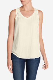 Women's Thistle Tank Top - Solid in White