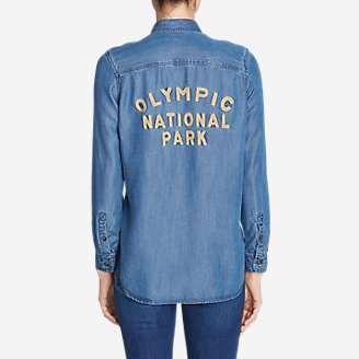 Women's Tranquil Shirt - Olympic National Park in Blue
