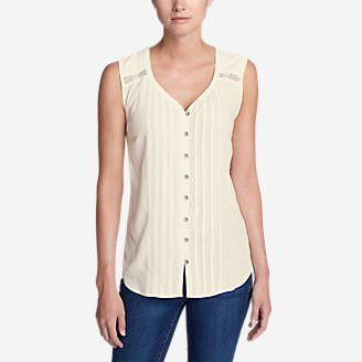 Women's Thistle Sleeveless Top in White
