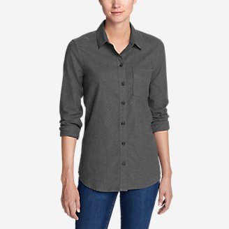 Women's Stine's Favorite Flannel Shirt - Boyfriend, Heather in Gray
