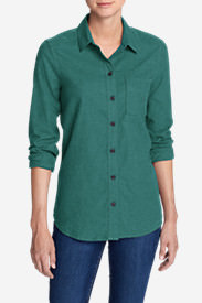 Women's Stine's Favorite Flannel Shirt - Boyfriend, Heather in Green