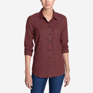 Women's Stine's Favorite Flannel Shirt - Boyfriend, Heather in Red