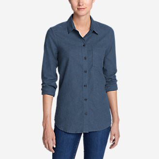 Women's Stine's Favorite Flannel Shirt - Boyfriend, Heather in Blue