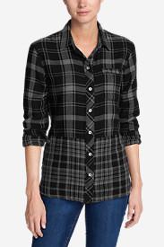 Women's Treeline Shirt - Mixed Plaid in Black
