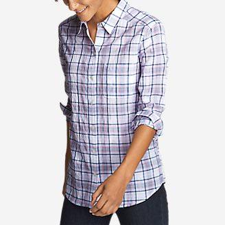 Women's Boyfriend Packable Shirt in Purple
