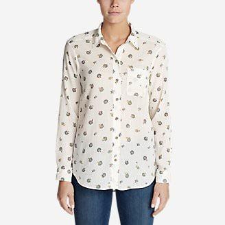 Women's Boyfriend Packable Shirt in Beige