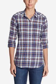 Women's Boyfriend Packable Shirt in Blue