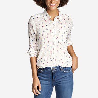 Women's Boyfriend Packable Shirt in White