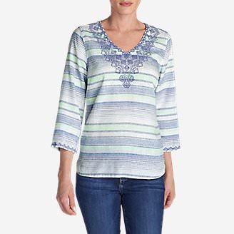 Women's Vista Point Tunic - Stripe in White