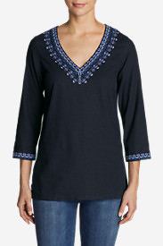 Women's Vista Point Tunic w/ Embroidery in Blue