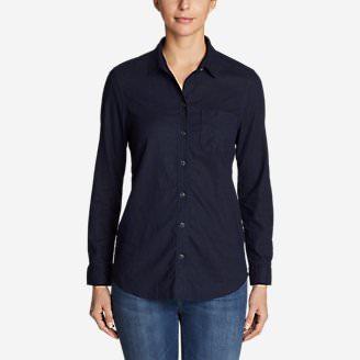 Women's Vista Point Boyfriend Shirt in Blue