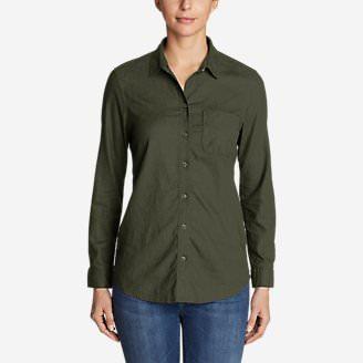 Women's Vista Point Boyfriend Shirt in Green