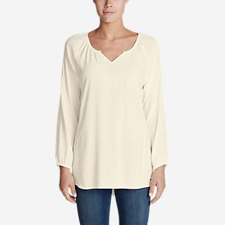 Women's Thistle 3/4-Sleeve Top - Solid in White