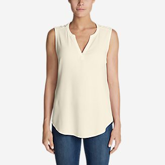 Women's Thistle Sleeveless Popover Top - Solid in White