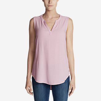 Women's Thistle Sleeveless Popover Top - Solid in Red