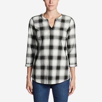 Women's Stine's Favorite Flannel Tunic in Black