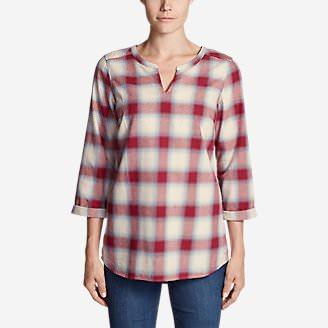 Women's Stine's Favorite Flannel Tunic in Red