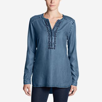 Women's Tranquil Indigo Tunic in Blue