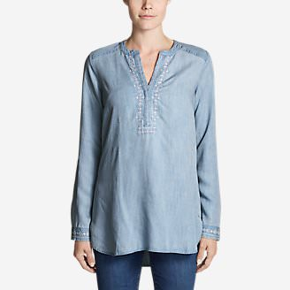 Women's Tranquil Indigo Tunic in Blue