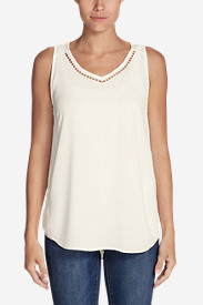 Women's Thistle Cut Work Tank in White