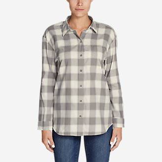 Women's Stine's Favorite Flannel Ex-Boyfriend Shirt in Gray