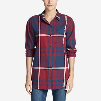 Women's Stine's Favorite Flannel Ex-Boyfriend Tunic Shirt in Red