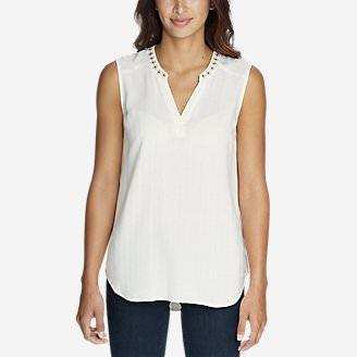 Women's Sunrise Sleeveless Dobby Shirt in White