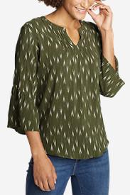Women's Sunrise Bell-Sleeve Top in Green