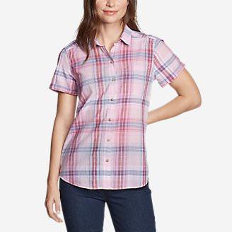 Women's Packable Short-Sleeve Shirt - Boyfriend in Red
