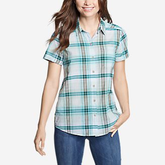 Women's Packable Short-Sleeve Shirt - Boyfriend in Green