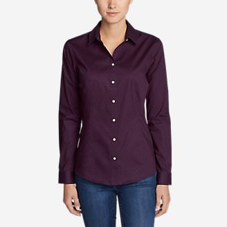 Women's Wrinkle-Free Long-Sleeve Shirt - Print in Purple