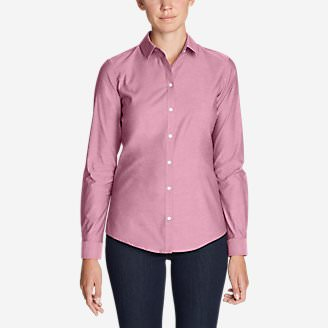 Women's Wrinkle-Free Long-Sleeve Shirt - Solid in Purple