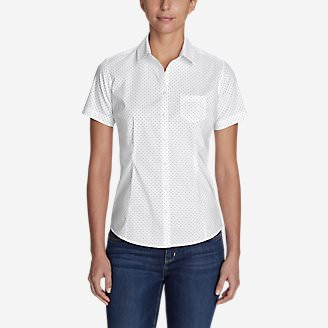 Women's Wrinkle-Free Short-Sleeve Shirt - Print in Black