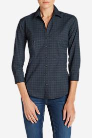 Women's Wrinkle-Free 3/4-Sleeve Shirt - Print in Blue
