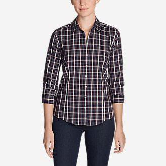 Women's Wrinkle-Free 3/4-Sleeve Shirt - Print in Green
