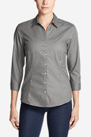 Women's Wrinkle-Free 3/4-Sleeve Shirt - Print in Gray