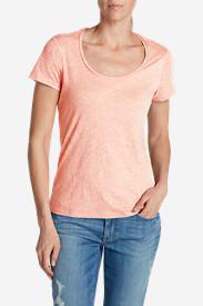 Women's Essential Slub Short-Sleeve Scoop-Neck T-Shirt in Pink