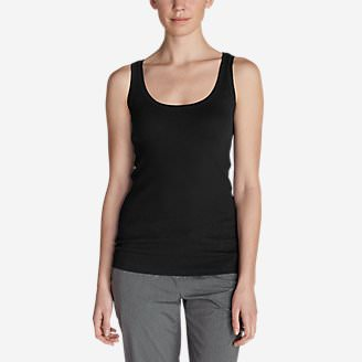 Women's Lookout 2x2 Rib Tank Top in Black