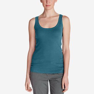 Women's Lookout 2x2 Rib Tank Top in Blue